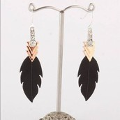 SOLD! Raven earrings- Were $49 Now $25
