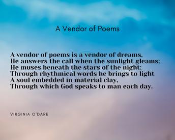 Secondary - A Vendor of Poems by Virginia O'Dare