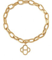 Signature Link Charm Bracelet, Gold