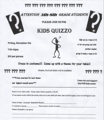 OLGC Kids Quizzo