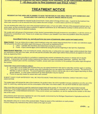 Lake Treatment Notice