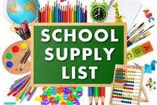 School Supply Lists for 2019-2020