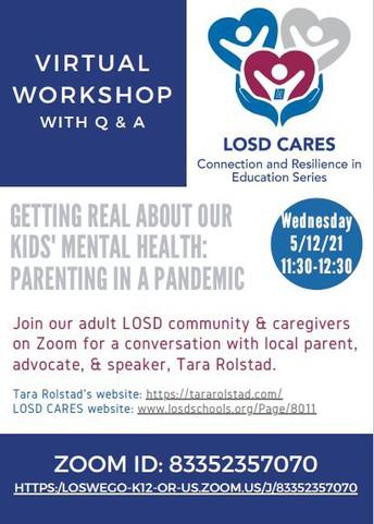 LOSD CARES Virtual Workshop