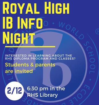 Royal HS IB Information Night