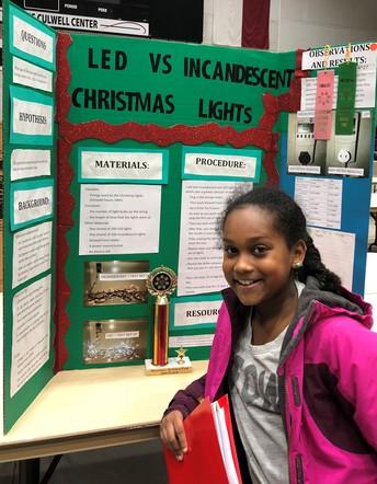 Harrington 4th grader wins 2nd place at regional science fair
