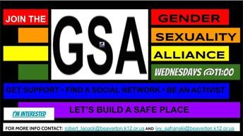 GSA Gender Sexuality Alliance