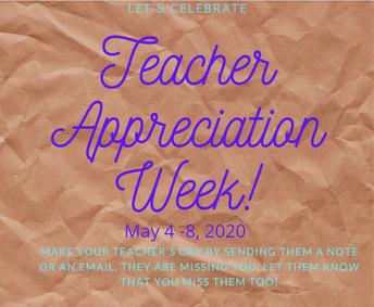 It is Teacher Appreciation Week!