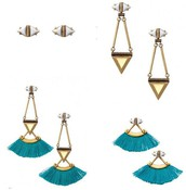 Lotus Tassel Chandelier earrings