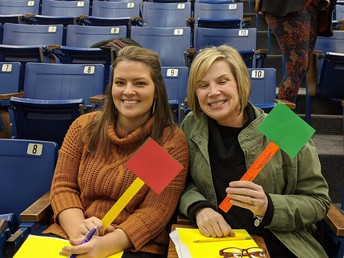 CMS teachers Ms. Kylee Corlew and Mrs. Carrie Maronde