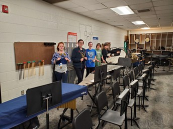 The Percussion Section looking cool