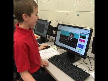 4th Grade Using Google Slides for English Class