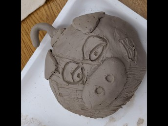 Clay Face Mask project (Mrs. Kristie Heron's 5th grade art class)