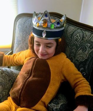 Daniel is dressed as King of the Land