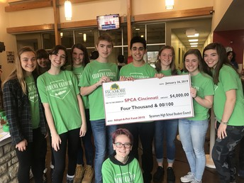 Sycamore High Student Council Donates to SPCA