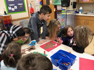 4th grade paired up with pre-school to make Gingerbread boys and girls