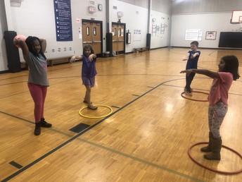 PE Hula Hoop Games