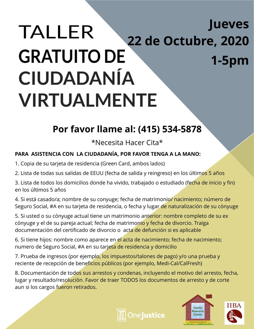 Free Virtual Citizenship Workshop (Spanish)