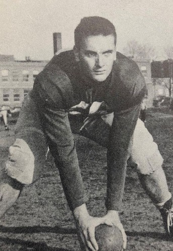 Old high school football picture of Paul Mackey.