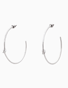 Simple Knot Hoops - Silver