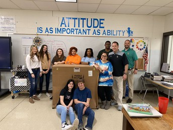 Gators of the Week:  Student Council Shares School Supplies with North Central High School
