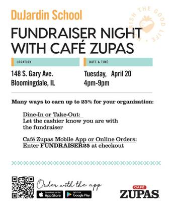 PTO Fundraiser Cafe Zupas