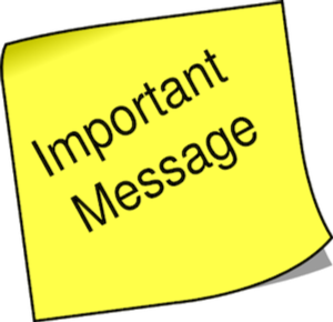 Messages, information, reminders and notices