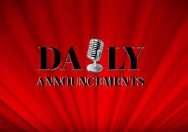 Daily Announcements Information