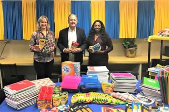 School Supplies Donated by King Cadillac