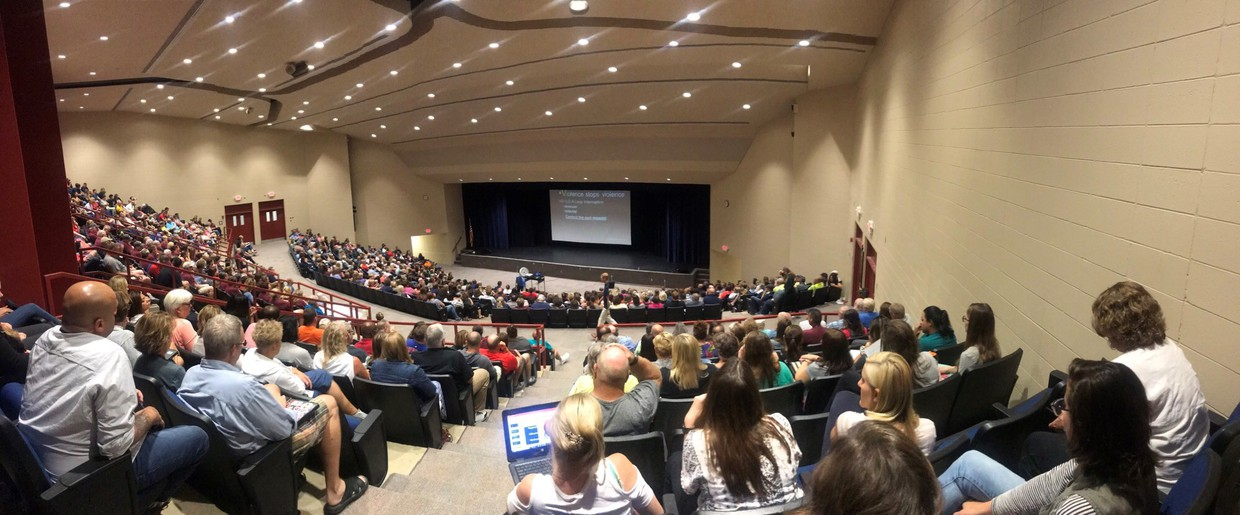 Teachers from all of North High feeder schools attended a training at North High regarding active shooters and school safety.