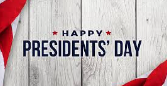 THIS MONDAY is President's Day - NO SCHOOL!