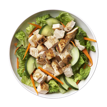 Cukes & Carrots Salad (w/chicken)