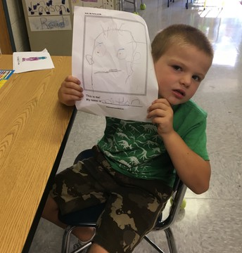 Colton's self portrait