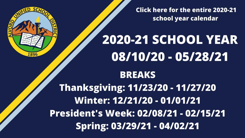 Entire School Year Calendar Here