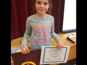 Our 3rd grade Citizen of the Month