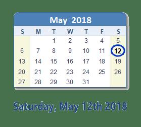 Berkley: Saturday,  May 12, 2018 9:00 AM – 12:00 PM