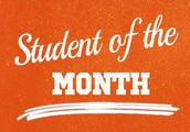 Let's Celebrate our January Students of the Month