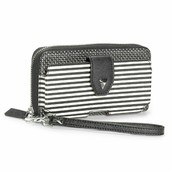Madison Tech Wallet, Black & White