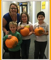 Winners of pumpkins from our Student Garden