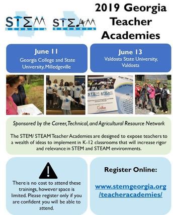 2019 STEM/STEAM Teacher Academies