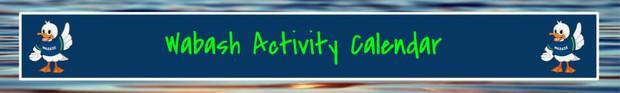 Wabash Activity Calendar
