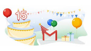 Gmail turned 15 this month!