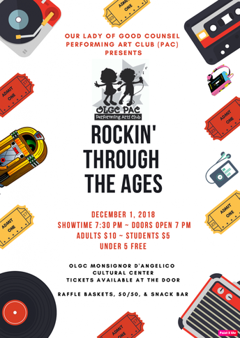 "PAC 2018 Fall Show ""Rockin' Through the Ages' - NEW DATE (12/1/18)"