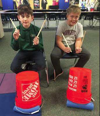 5th Grades are Drumming
