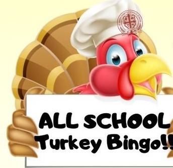 Turkey Bingo:  Friday, November 13th