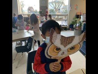 We enjoyed retelling our Mitten story in Kindergarten
