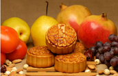 Mooncakes and golden pears