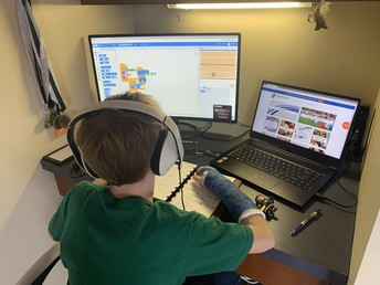 Will's Workstation - He is excited to stay connected!