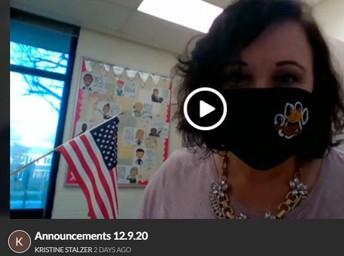 Ms. Stalzer's GOOD NEWS!