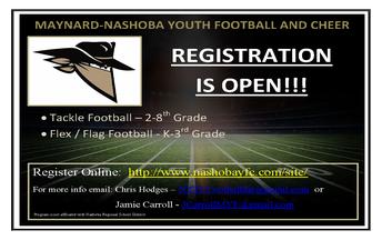 MAYNARD-NASHOBA YOUTH FOOTBALL AND CHEER