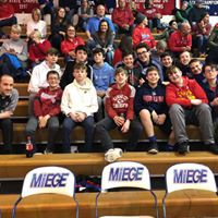 Fr. Scott and Mrs. Maddox take our 8th gr boys to a Miege Game!!!